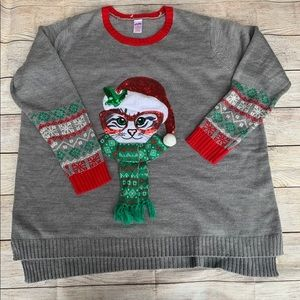 Holiday Time Cat Lady Ugly Sweater